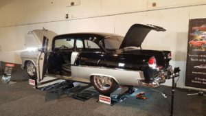 The WheelBands '55 2-Dr Post Chev Winner of the Grand National Rod & Custom Show, Modified Sedan category