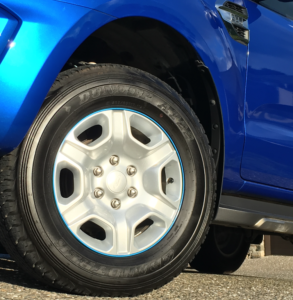 Ford Ranger, Silver Track with Lt Blue Insert